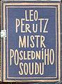 Leo Perutz - Mistr posledniho soudu, 1925.jpg