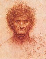 Leonardo da vinci, Old man with ivy wreath and lion's head.jpg
