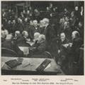 Leopold Braun - Aus dem Reichstage bei einer Rede Caprivis, 1892.png
