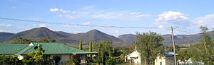 Killarney, Queensland - View of Killarney hills behind Killarney Memorial Aged Care