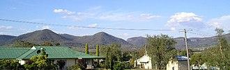 Killarney, Queensland - View of Killarney hills behind Killarney Memorial Aged Care