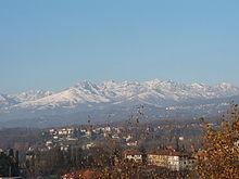 Il panorama delle Alpi biellesi fra Lessona e Cossato
