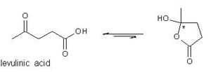 Pseudoacid - Levulinic acid open-cyclic interconversion.
