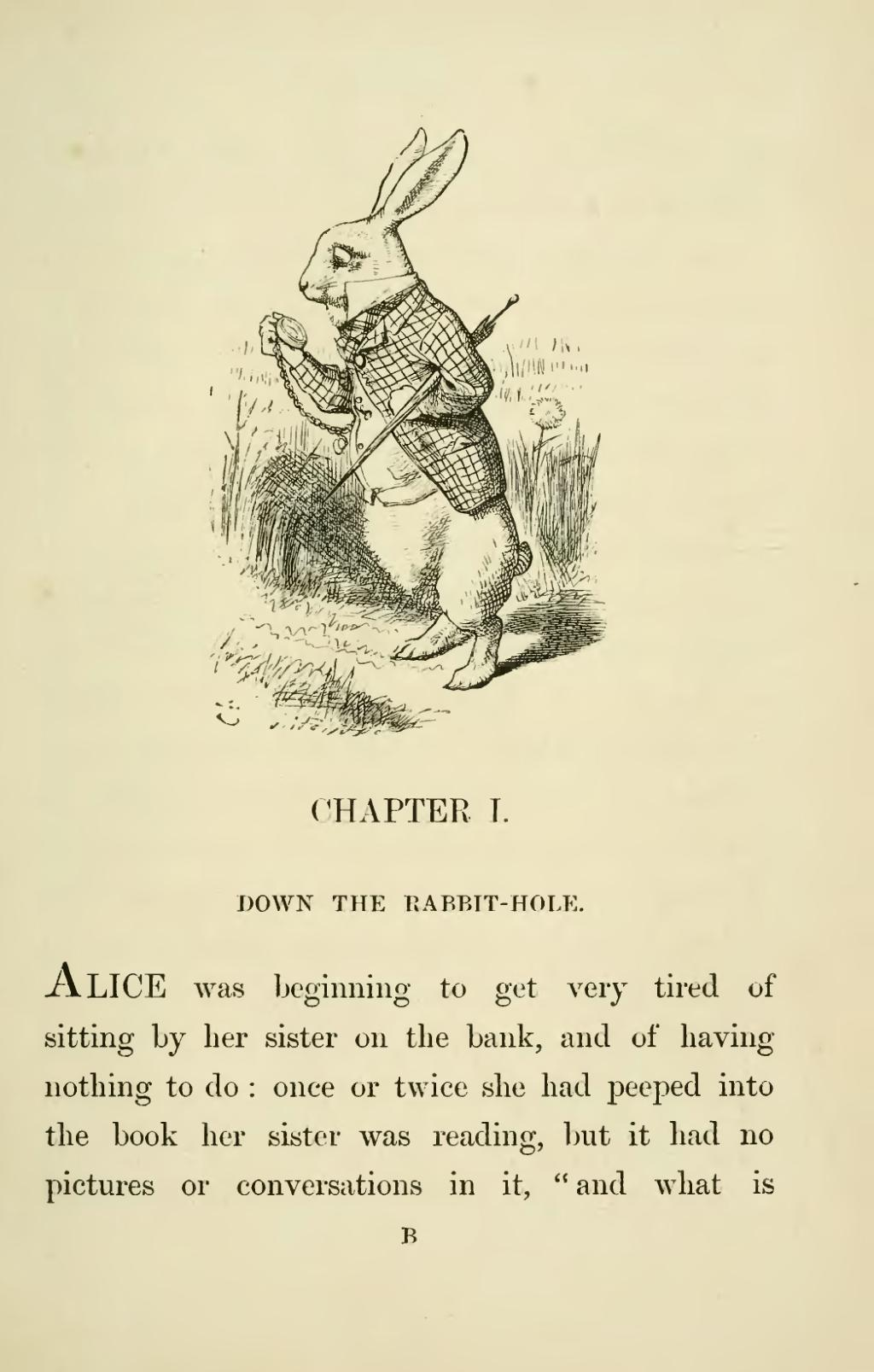 a discussion on the making of lewis carrolls alice in wonderland Alice's adventures in wonderland (alice's adventures in wonderland, #1), through the looking-glass and what alice found there (alice's adventures in won.