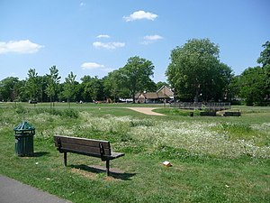 Ladywell Fields - Image: Lewisham, across Ladywell Fields geograph.org.uk 1331461
