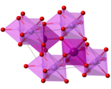 Crystal structure of lithium iodate, iodines are inside the unit cell