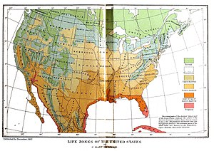 Clinton Hart Merriam - Life and crop zones according to Merriam (1898)