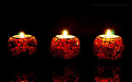 On Dhanteras, diya lights are left burning all night.[16] - Diwali