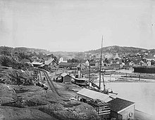 Lillesand panorama in 1902.jpg