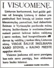 Lithuanian coup 1926
