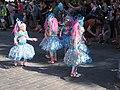 Little samba girls in blue dresses from Samba Carioca at Helsinki Samba Carnaval 2019.jpg