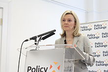 Liz Truss MP, Minister for Education and Childcare, at her speech setting out government plans to promote more great childcare.jpg