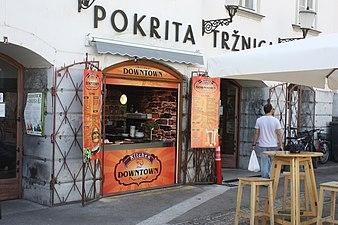 Ljubljana, am Seminargebäude.JPG