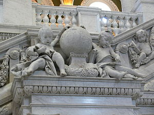 Philip Martiny - Putti representing Asia and Europe, Great Hall, Library of Congress.