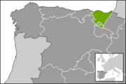 Localización del País Vasco