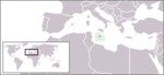 Location of Malta in the World