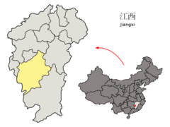 Location of Ji'an Prefecture within Jiangxi (China).png