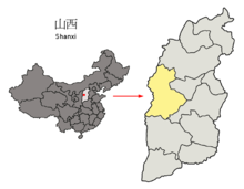 Location of Lüliang Prefecture within Shanxi (China).png