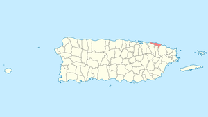 Location of Loíza in Puerto Rico