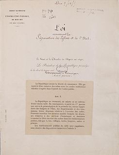 1905 French law on the Separation of the Churches and the State