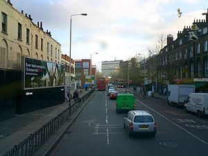 London Road, Southwark - Looking southeast along London Road.