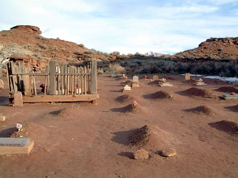 """Lonely Graveyard, Grafton Ghost Town, Utah"""