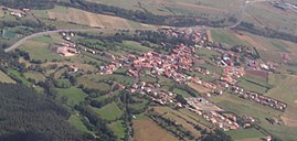 An aerial view of Loudes