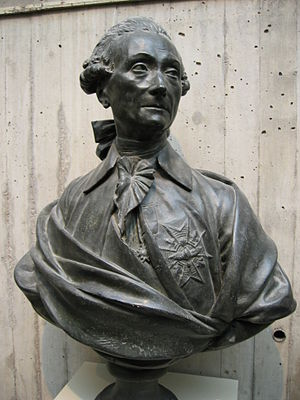 Louis Jules Mancini Mazarini - Bust of Mancini-Mazarini by the sculptor Jean-Antoine Houdon