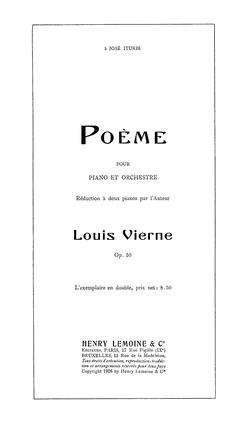 Poème Pour Piano Et Orchestre Vierne Wikipédia