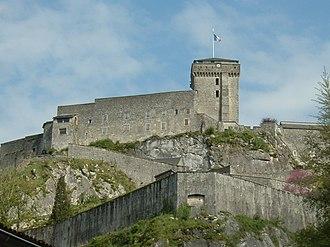 Château fort de Lourdes - Image: Lourdes Chateau Vue Occidentale