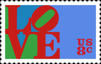 Robert Indiana - 1973 LOVE stamp