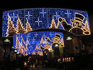 Luces navideñas Barcelona,España.