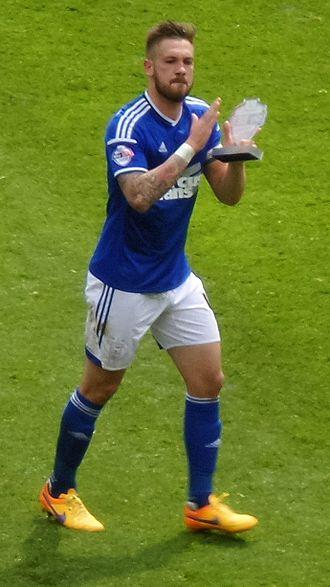 Luke Chambers - Luke Chambers playing for Ipswich Town in 2015