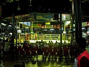 Lumpinee Boxing Stadium - A Muay Thai ring of the Lumpinee Boxing Stadium in 2005