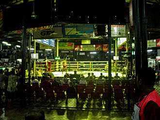 Lumpinee Boxing Stadium - A Muay Thai ring of the old Lumpinee Boxing Stadium in 2005