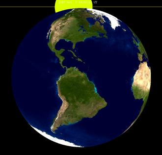 October 1987 lunar eclipse - Image: Lunar eclipse from moon 1987Oct 07