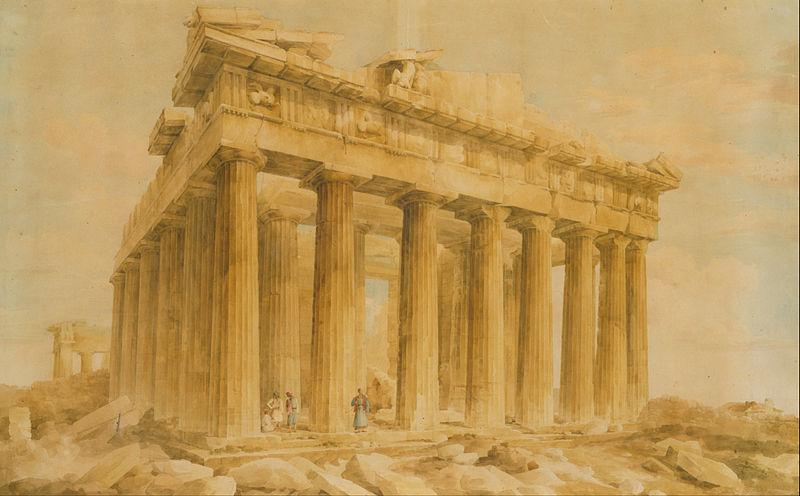 File:Lusieri Giovanni Battista - The Parthenon from the Northwest - Google Art Project.jpg