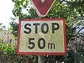 Lyon 9e - Impasse de l'Horloge - Panneau stop à 50 m (fév 2019).jpg