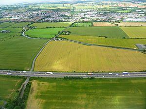 M8 motorway (Scotland) - The M8 south of Broxburn, West Lothian