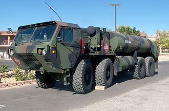 Heavy Expanded Mobility Tactical Truck - Image: M978 tank truck in Beatty, Nevada