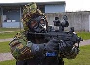 MOD Police CBRN Officer on range
