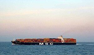 MSC Flaminia - Image: MSC Flaminia at sea