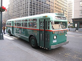 New York City Transit Authority - The original livery for NYC Transit Authority buses in the 1950s.