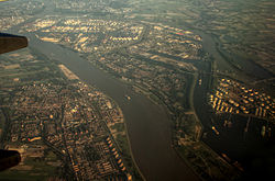 Aerial view of Maassluis