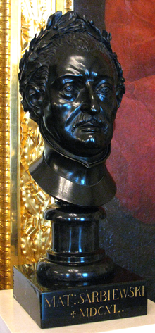 Buste of Maciej Kazimierz Sarbiewski by André Le Brun in Warsaw Royal Castle