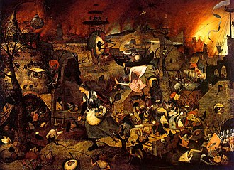 Folklore of the Low Countries - Dulle Griet, painting by Pieter Brueghel the Elder, circa 1562