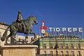 Madrid. Puerta del Sol square. Equestrian statue of Carlos III. Tío Pepe neon sign. Spain (4078215594).jpg