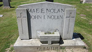 John I. Nolan - The Nolans' grave at Holy Cross Cemetery