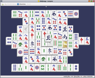 Mahjong solitaire Solitaire game played with mahjong tiles