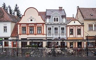 Kőszeg - Image: Main Square buildings, Kőszeg, 2016 03 07 2